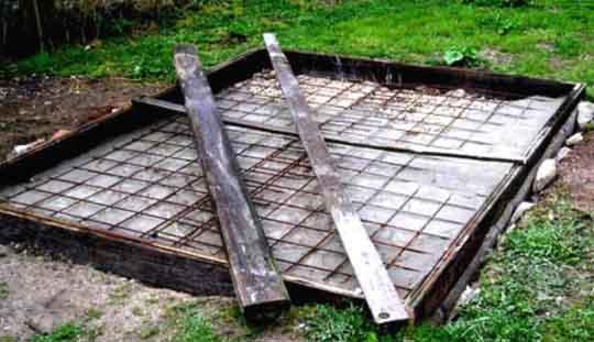 Закладка бетонного фундамента