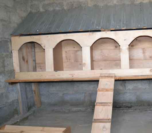 Гнезда для кур несушек «домик в домике»