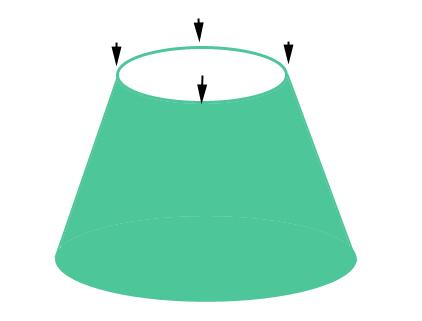 Разделение юбки на 4 части
