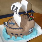 Пошаговый рецепт: торт в виде пиратского корабля своими руками