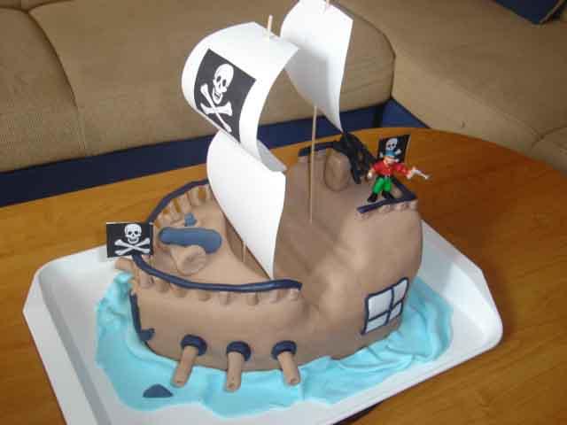 Торт для мальчишек-пиратов