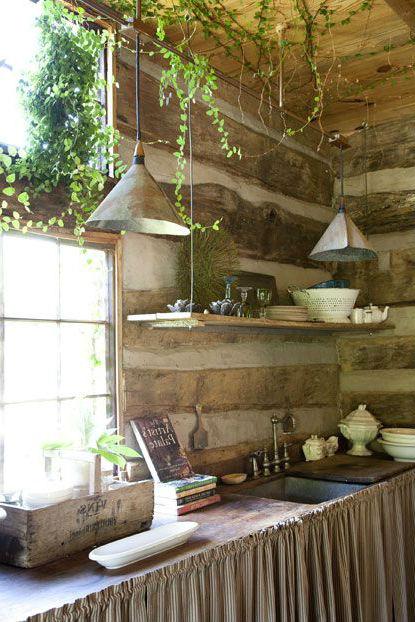 Элементы из дерева в современной кухне