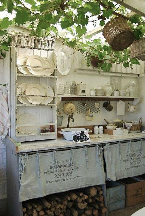 Стилизация под деревенскую кухню