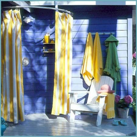 Клееночный летний душ