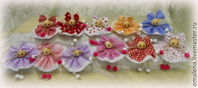 Разноцветные куклы-эльфы